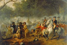 Washington as Captain in the French and Indian War by Junius Brutus Stearns, oil on canvas, circa 1849-1856