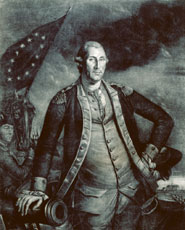 George Washington by Charles Willson Peale, mezzotint, 1780